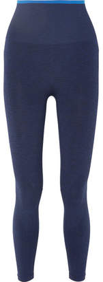 LNDR - Six Eight Striped Stretch-knit Leggings - Navy