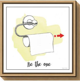 Amanti Art Home Improvement IV Toilet Paper by Myles Sullivan Canvas Framed Art