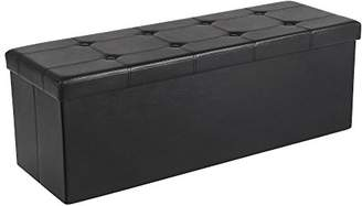 "Trunks SONGMICS 43"" Faux Leather Folding Storage Ottoman Bench"