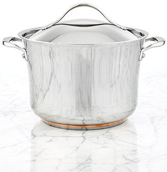 Anolon Nouvelle Copper Stainless Steel 8.25 Qt. Covered Stockpot