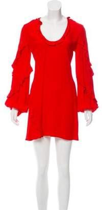 Alexis Ruffle-Trimmed Mini Dress w/ Tags
