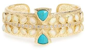 Melinda Maria Hawthorne Turquoise & Opal Cuff Bracelet