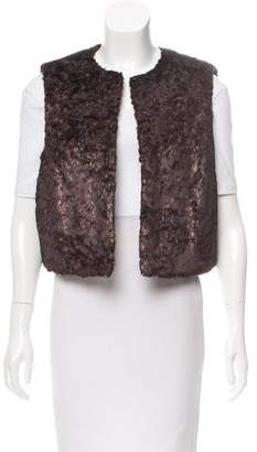 W by Worth Faux Fur Open Front Vest w/ Tags