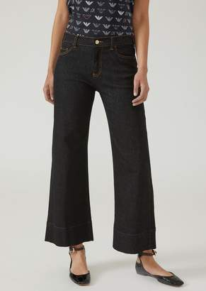Emporio Armani J33 Wide-Fit Jeans With Embroidered Logo On The Pocket