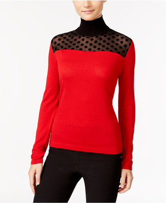 August Silk Illusion Contrast Turtleneck $60 thestylecure.com