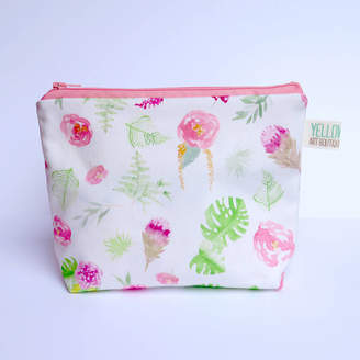 Yellowstone Art Boutique Small Handmade Colourful Floral Make Up Bag