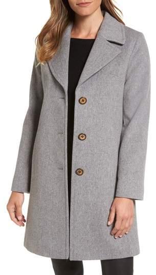 Fleurette Notch Collar Wool Walking Coat