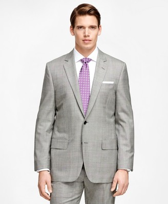 Brooks Brothers Fitzgerald Fit Golden Fleece Black and White Plaid Wool Suit