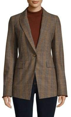 Lafayette 148 New York Heather Plaid Jacket