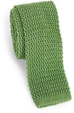 CharvetCharvet Solid Silk Knit Tie