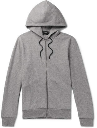 Theory Mélange Jersey Zip-up Hoodie - Gray
