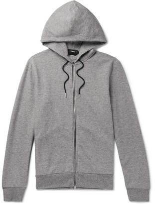 Theory Melange Jersey Zip-up Hoodie - Gray