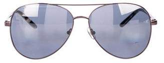 Linda Farrow Matthew Williamson x Aviator Gradient Sunglasses