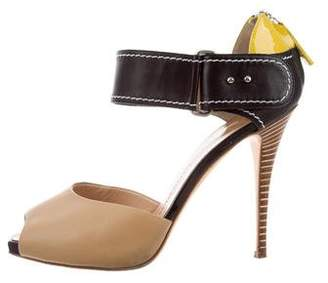 Giuseppe Zanotti Peep-Toe Leather Sandals