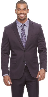 Savile Row Men's Modern-Fit Purple Suit Jacket