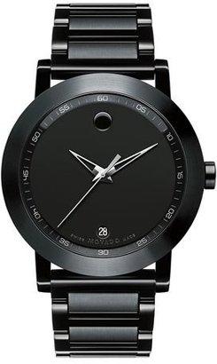 Movado 42mm Museum Sport Watch, Black $1,295 thestylecure.com