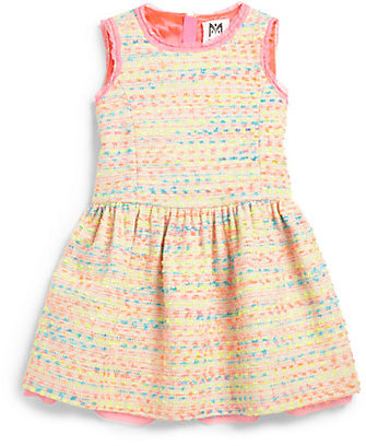Milly Minis Toddler's & Little Girl's Neon Flecked Tweed Dress