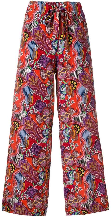 Etro patterned palazzo pants