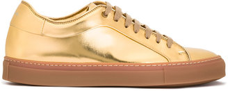 Paul Smith metallic lace-up sneakers $495 thestylecure.com