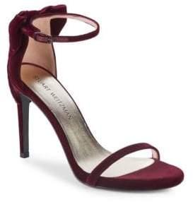 Stuart Weitzman Mybow Suede Stiletto Sandals