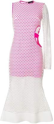 David Koma asymmetric flared dress