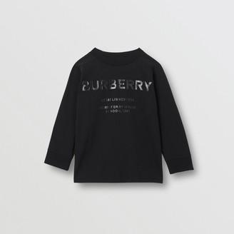 Burberry Long-sleeve Horseferry Print Cotton Top