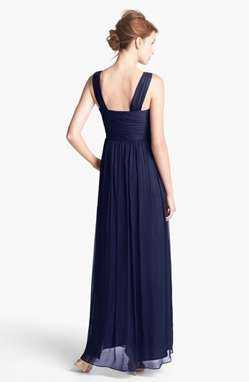 Donna Morgan 'Amy' Crinkled Silk Chiffon Dress