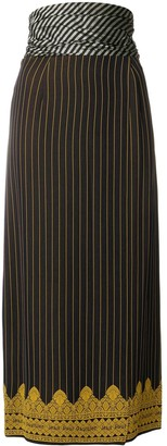 Jean Paul Gaultier Pre-Owned mid-calf pinstripe skirt