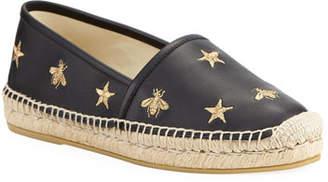 fa4a35dc5fe Gucci Star and Bees Flat Espadrilles
