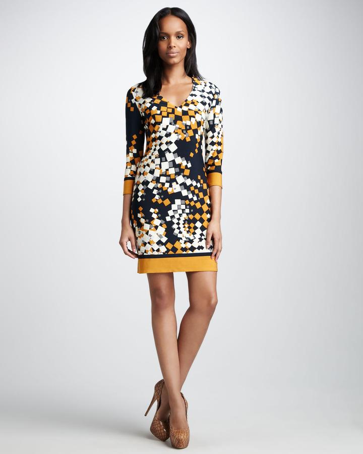 Ali Ro Printed Jersey Dress