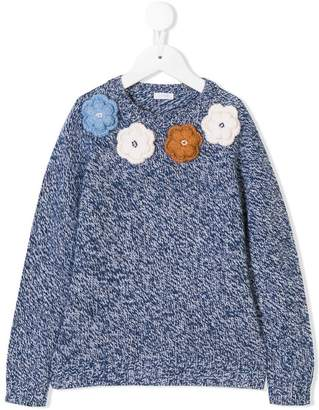 Il Gufo floral embroidered sweater