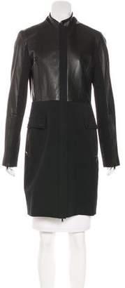 Robert Rodriguez Leather Knee-Length Coat