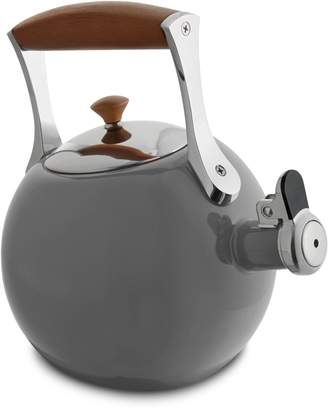 Nambe Stainless Steel and Wooden Meridian Tea Kettle