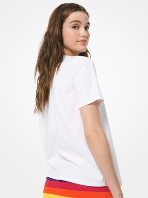 53386999 MICHAEL Michael Kors White Women's Tees And Tshirts - ShopStyle
