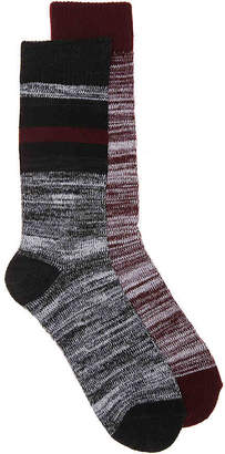 Aston Grey Marled Stripe Boot Socks - 2 Pack - Men's