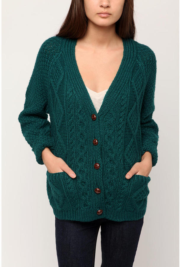 NEAL by Neal Sperling Cabled Cardigan