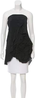 Robert Rodriguez Ruffle-Tiered Strapless Tunic