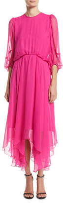 Camilla And Marc Dylan Midi Dress w/ Handkerchief Skirt