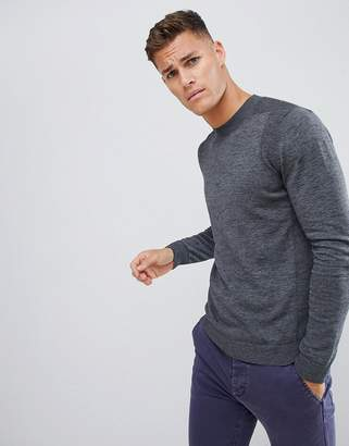Selected knitted sweater in organic cotton
