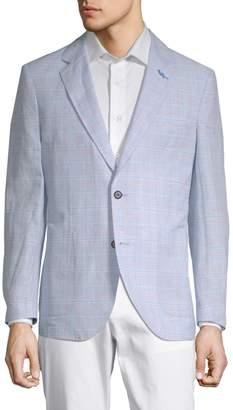Tailorbyrd Kuvungen Hill Plaid Lightweight Linen Cotton Jacket