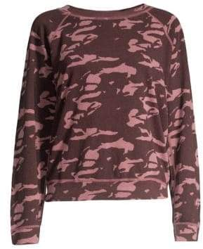 Monrow Camo Cotton-Blend Sweater