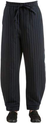 Damir Doma 25cm Striped Cotton Blend Pants