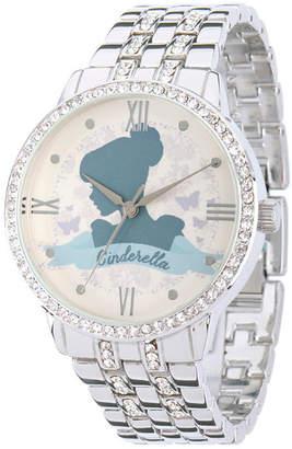 Disney Cinderella Womens Silver Tone Bracelet Watch-W002146