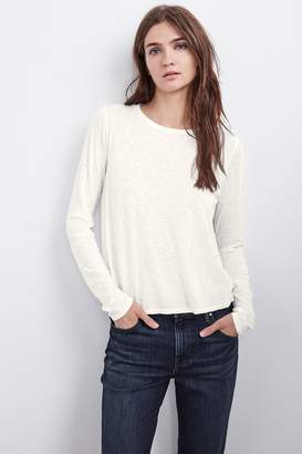 Velvet by Graham & Spencer TALULA LUX SLUB LONG SLEEVE SWING TEE