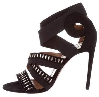 Alaia Studded Crossover Sandals w/ Tags