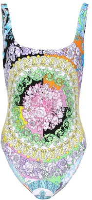 Versace Floral-printed swimsuit