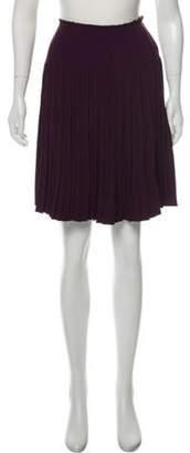 Prada Pleated Knee-Length Skirt Purple Pleated Knee-Length Skirt