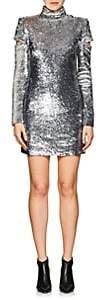 Helmut Lang Women's Disco Sequined Minidress - Slvr