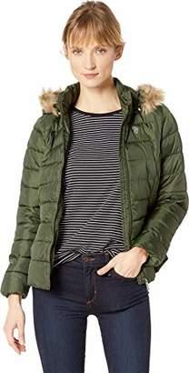 U.S. Polo Assn. Women's Puffer Jacket with Faux Fur Hood