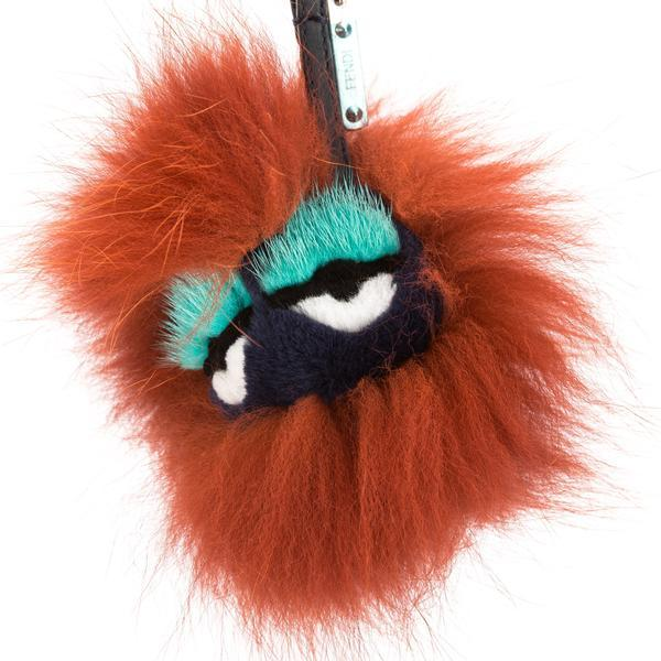 FendiFendi Red Mixed Fur Blueminous Bag Bug Charm (New with Tags)